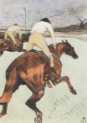 Henri de Toulouse-Lautrec. Der Jockey. KK