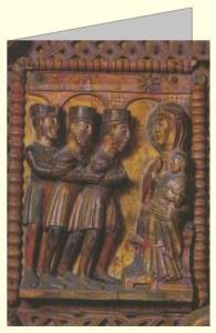 Anbetung der Könige, Holztür um 1065. DK