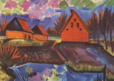Max Pechstein. Rote Häuser, 1923