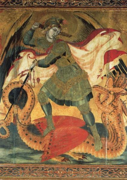 Ambrogio Lorenzetti. Hl. Michael, gest. ca. 1348 (Ssiena)