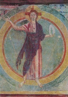 Christus der Sieger. Fresko Tessin. KK