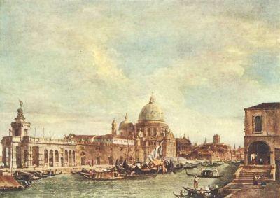 Antonio Canal. (Canaletto). Santa Maria d. Salute. KK