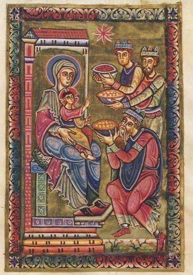 Epiphanie, Perikopenbuch um 1140. KK