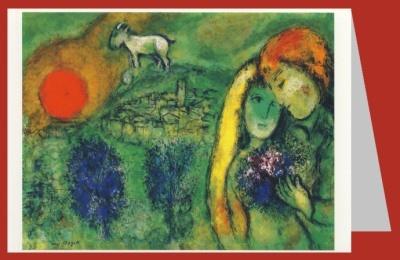 Marc Chagall. Die liebenden von Vence. DK
