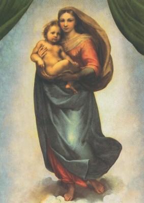 Raffael. Sixtinische Madonna (Mutter + Kind). KK