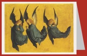 Drei schwebende Engel, Meister des Hausbuches. DK