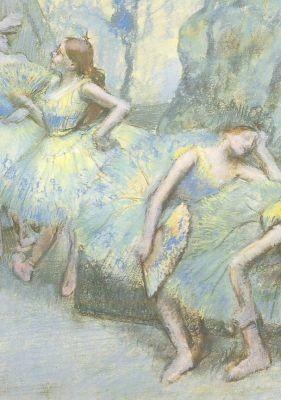 Edgar Degas. Tänzerinnen in den Kulissen. KK