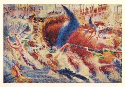 Boccioni, U. Die Stadt im Aufbruch, 1910. KK