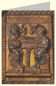Geburt Christi, Holztür um 1065. DK