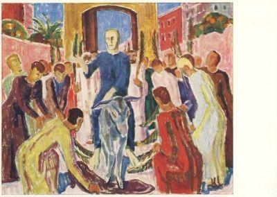 K. Caspar. Einzug Christi in Jerusalem. KK