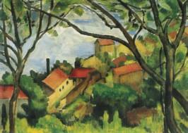 Vlaminck, M. Dorf im Sommer, um 1930. KK