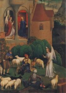 Hans Memling. Verkündung an Maria und Hirten, 1480