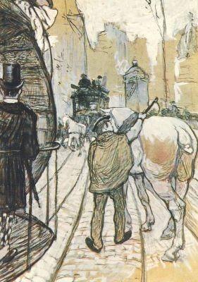 Henri de Toulouse-Lautrec. Das Vorspannpferd der Omnibusges.