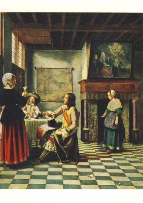 Hooch, P. Inneres eines Holländischen Hauses. KK