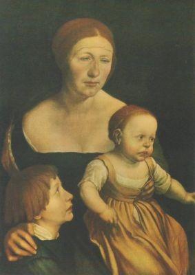 Holbein, H. Des Künstlers Ehefrau mit Kinder. KK