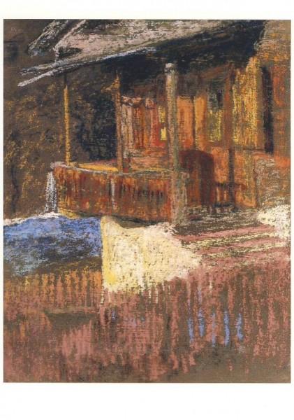Giacometti, Giovanni. Atelier in Stampa, ca. 1916. KK