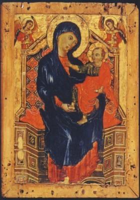 Orlandi, Deodato. Thronende Madonna mit Kind / 2 Erzengel