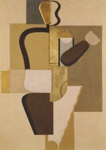 Willi Baumeister. Mauerbild mit Metallen, 1923