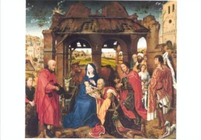 Rogier van der Weyden. Die Anbetung der Könige, um 1455. KK