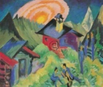 Ernst Ludwig Kirchner. Mondaufgang auf der Stafelalp, 1917