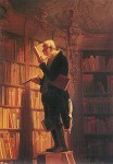 Spitzweg, C. Der Bücherwurm, Ausschnitt. KK