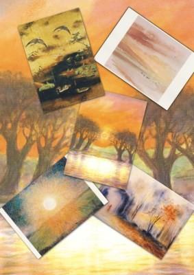 """Set """"Herbststimmung"""" mit 5 verschiedenen Karten"""