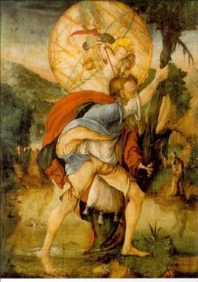 Meister von Messkirch. Hl. Christophorus. 24./25. Juli