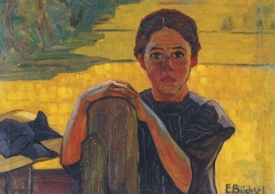Elisabeth Büchsel. Mädchen am Weidezaun, um 1905. KK