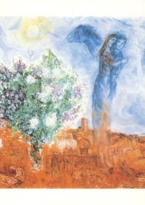 Marc Chagall. Liebhaber über St. Paul, 1970/71
