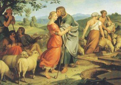Führich, J. Jakob begegnet Rahel, 1836. KK