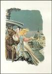 Christkind mit Weihnachtsmann. Altes Motiv um 1900. KK