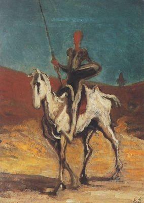 Honoré Daumier. Don Quichote, um 1868
