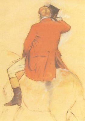 Reiter in rotem Rock, Degas