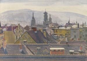 Nägele, Reinhold. Aussicht auf Stuttgart, 1922