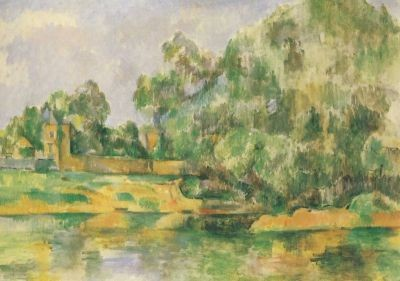 Riverbank, Canvas 1895, Cezanne