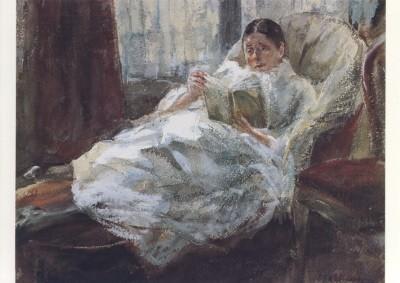 Max Liebermann. Gattin des Künstlers,1897. KK