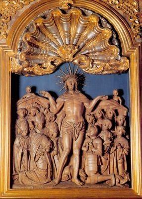 Schutzmantelchristus mit den 14 Nothelfern, um 1510. KK