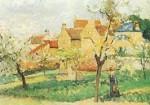Camille Pissarro. Blühende Pflaumenbäume