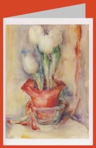 Hummel, M.I. Weiße Tulpen in rotem Topf, 1935/36