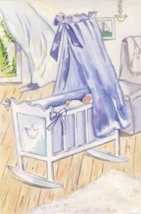 Anne C. Wenzel. Wiege blau