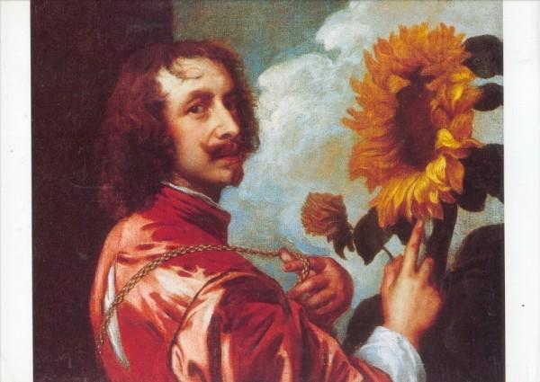 Anthonis van Dyck. Selbstbildnis mit einer Sonnenblume