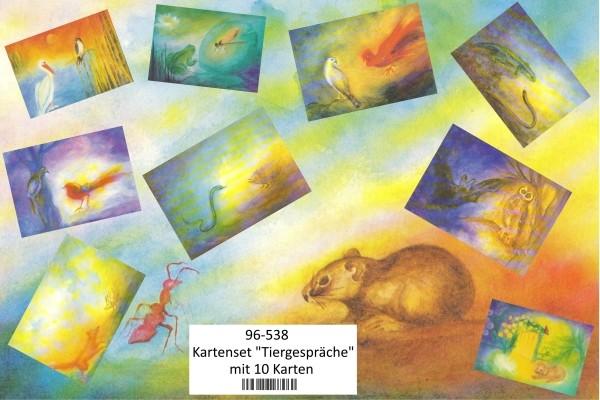 """Kartenset """"Tiergespräche"""" mit 10 Karten"""