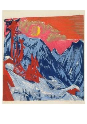Ernst Ludwig Kirchner. Wintermondnacht, 1919. KK
