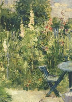 Berthe Morisot. Stockrosen, 1884