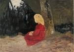Modersohn-Becker. Mädchen am Moorkanal, 1903. KK