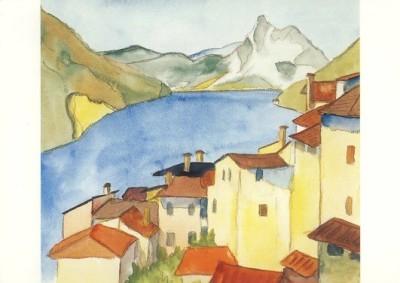 Hermann Hesse. Albogasio, Aquarell Jili 1925