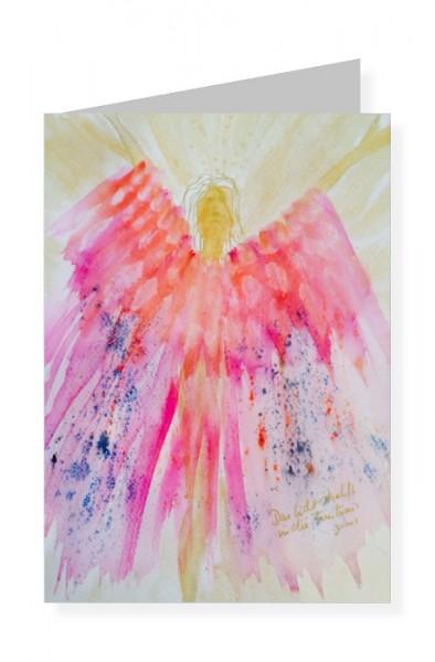 Imme Linzer. Engel des Lichts. Trostkarte mit Text