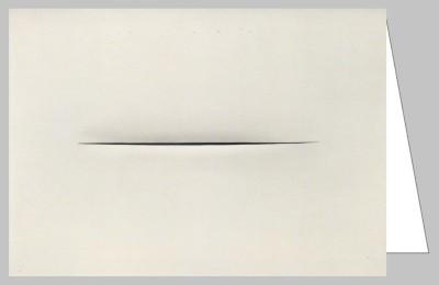 Lucio Fontana. Concetto Speziale (Raum-Konzept), 1966