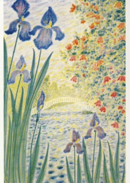 Hewel, Almut. Lilien am Wasser. KK