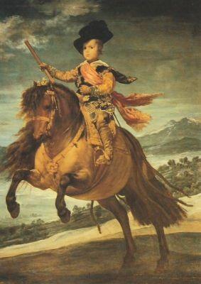 Velazquez. Don Balthasar Carlos zu Pferde. KK
